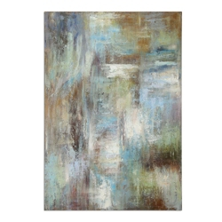 "48""W x 70""H Dewdrops Frameless Linen Painting, 90062"