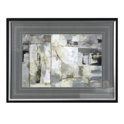 "50""W x 38""H Walking Down the Street Framed Print, 90065"