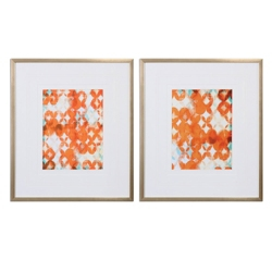"""24""""W x 28""""H (Each) Set of Two Framed Prints, 90066"""