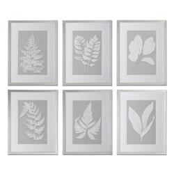 """20""""W x 26""""H (Each) Moonlight Ferns Framed Art, 90094"""