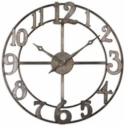 """32""""Dia Metal Hanging Clock, 87609"""