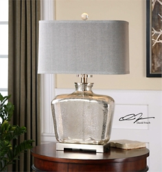 "Glass Table Lamp - 28""H, 92488"