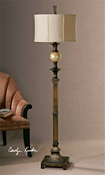 "Traditional Bronzed Floor Lamp - 69""H, 92510"