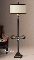 "Elegant Floor Lamp with Table - 65.5""H, 92516"