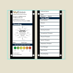 """Double Glass Patient Board with Square Corners - 30.6""""W x 26""""H, 80615"""