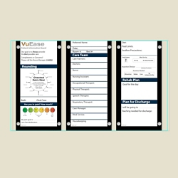 """Triple Glass Patient Board with Square Corners - 45.2""""W x 26""""H, 80617"""