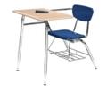 Hard Plastic Chair Desk, 11314S