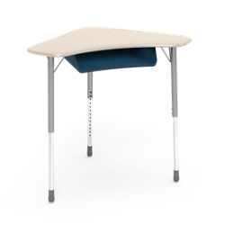 """Boomerang Student Desk with Book Box -2 8""""W x 28""""D, 220025"""