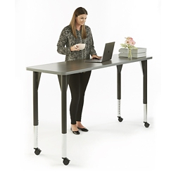 "Agile Mobile Adjustable Height Table - 72""W x 30""D, 46878"