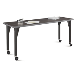 "Agile Mobile Adjustable Height Table - 60""W x 24""D, 46874"