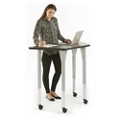 "Agile Mobile Trapezoid Adjustable Height Table - 48""W x 24""D, 46879"