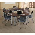 Agile Trapezoid Mobile Adjustable Height Table Set, 46884