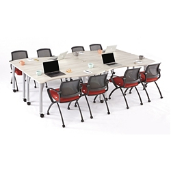 Agile Curve Mobile Adjustable Height Table Set, 46885
