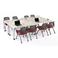 Agile Curve Mobile Adjustable Height Table Set, 46885