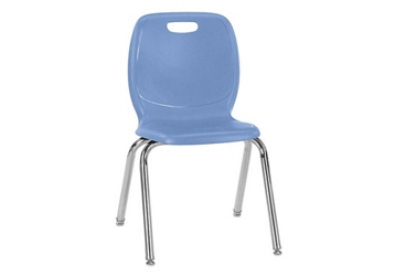 "Polypropylene 16""H Classroom Stack Chair, 51597"