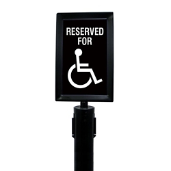 "Polished Chrome Sign Frame for Crowd Control Post-  7""W x 11""H, 87981"
