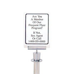 "Acrylic Sign Holder for Paper Signage - 8.5""W x 11""W, 87984"