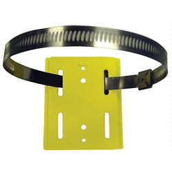 Hose Clamp Mount Wall Plate for 15ft and 30ft Wall Mount Barrier Belt Units, 92035