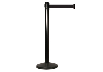 "40""H Black Aluminum Stanchion with 15ft Belt, 82820"