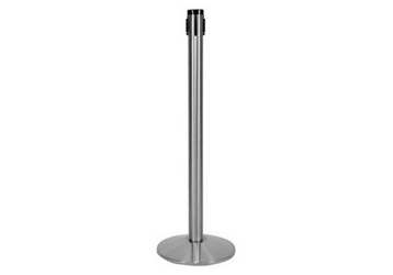 "40""H Satin Aluminum Receiving Stanchion, 82825"