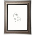 "24""W x 30""H Decorative Framed Whiteboard, 80582"