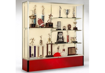 "72"" Wide Spirit Display Case with Fabric Back, 36291"