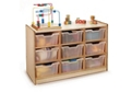 Storage Cabinet with 9 Clear Trays, 36833