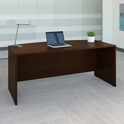 "72""W Bow front Desk Shell, 13143"