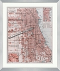 "Vintage Map of Chicago - 28""W x 33""H, 220155"