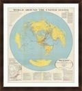 "World Around the US - 40""W x 44""H, 220162"