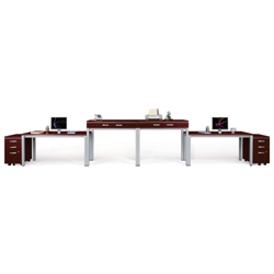 Reveal Two-Person Desk and File Set, 10101