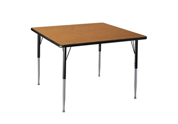 "Adjustable Height Rectangular 30"" x 48"" Activity Table with Armor Edge, 46343"