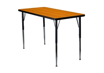 "Adjustable Height Rectangular 30"" x 60"" Activity Table with Armor Edge, 46344"