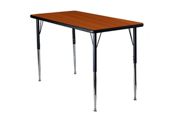 "Adjustable Height Rectangular 36"" x 72"" Activity Table with Armor Edge, 46352"