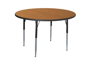 "Round Adjustable Height 48"" Activity Table with Armor Edge, 46355"