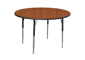 "Round Adjustable Height 60"" Activity Table with Armor Edge, 46356"