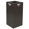 Square Top Metal Recycling Container - 28 Gallon, 91102