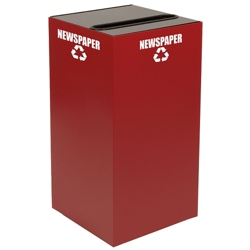 Slot Top Metal Recycling Container - 28 Gallon, 91105