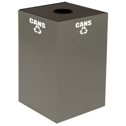 Round Top Metal Recycling Container - 32 Gallon, 91109