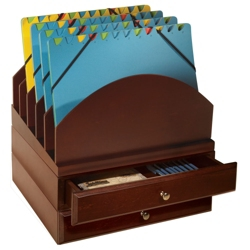Set of Two Stacking Drawers & Five Slot File Tray, 91263