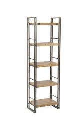 """5 Open Shelf Bookcase Small - 75""""H, 33086"""
