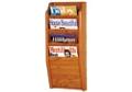 Oak Literature Rack with 4 Magazine Pockets, 33025
