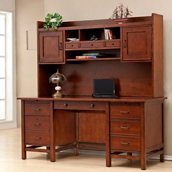 "Computer Desk with Hutch- 66""W, 15441"