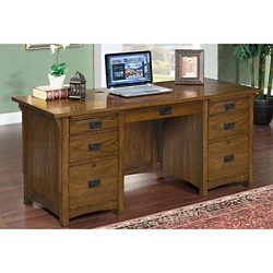 "Double Pedestal Desk 69""W x 28""D, 10396"