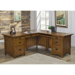 "L-Desk with Right Return 72""W x 76""D, 10398"