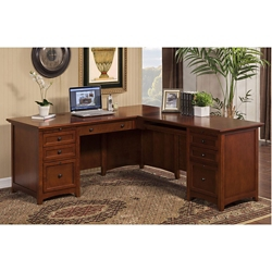 "L-Desk with Right Return 72""W x 75""D, 10399"