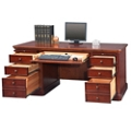 "Double Pedestal Desk - 68""W, 14194"