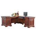 "Right Return Double Pedestal L-Desk - 72.5""W, 14200"