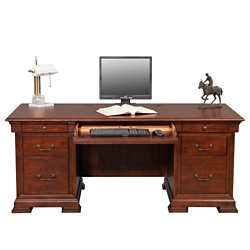 "Double Pedestal Desk - 72""W, 14201"