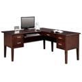 "Double Pedestal L-Desk - 62""W, 15382"